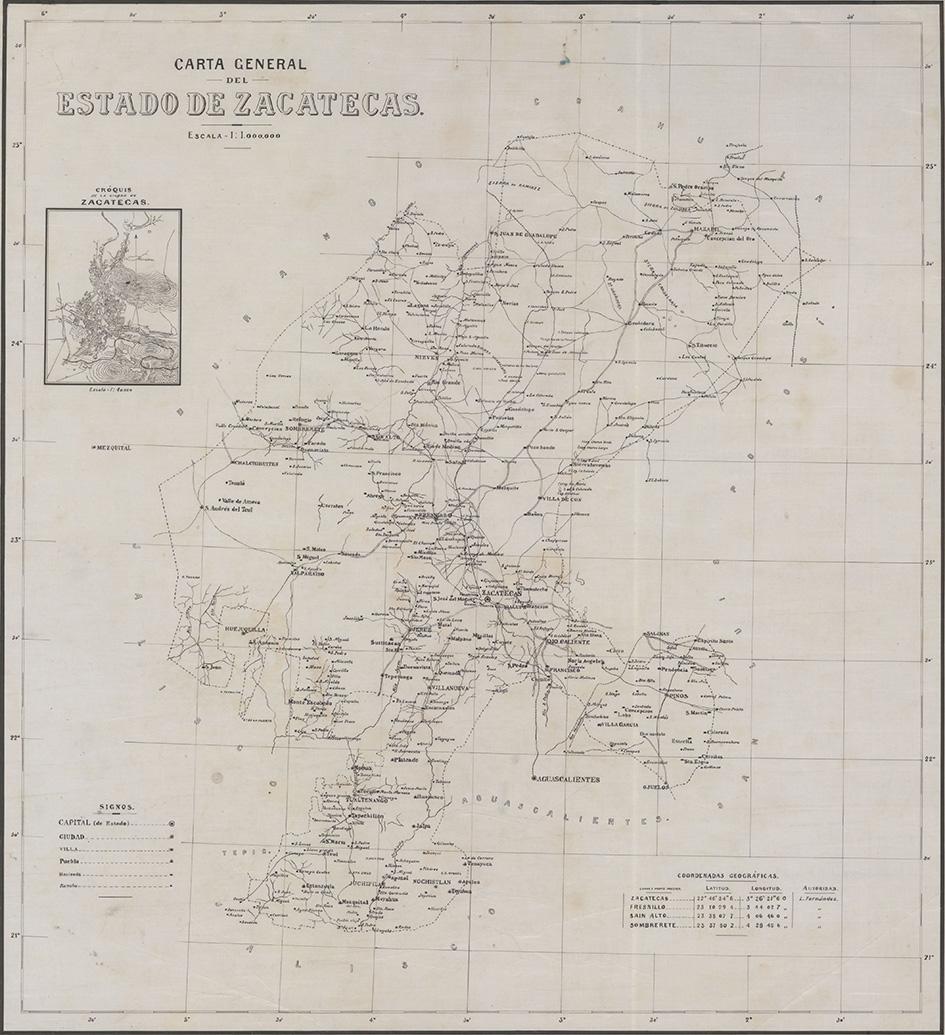 """Para conmemorar un año más del inicio del movimiento de la Revolución Mexicana, la Mapoteca """"Manuel Orozco y Berra"""" presenta el mapa: """"Carta General de Zacatecas"""", de 1914."""