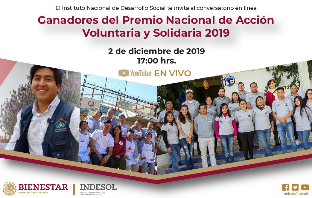 Banner Indesol ganadores del PNAVS 2019