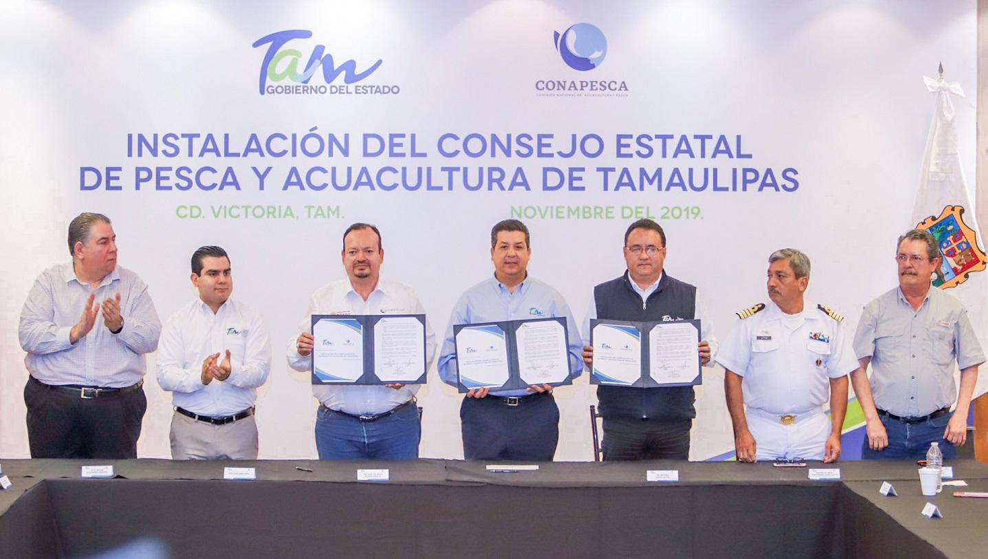 Se firmará con la entidad un convenio en materia de inspección y vigilancia, y de ordenamiento pesquero para el próximo año, adelantó el titular de la Conapesca.