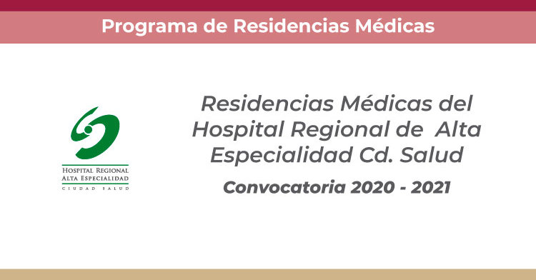 Convocatoria Cd Salud 2020