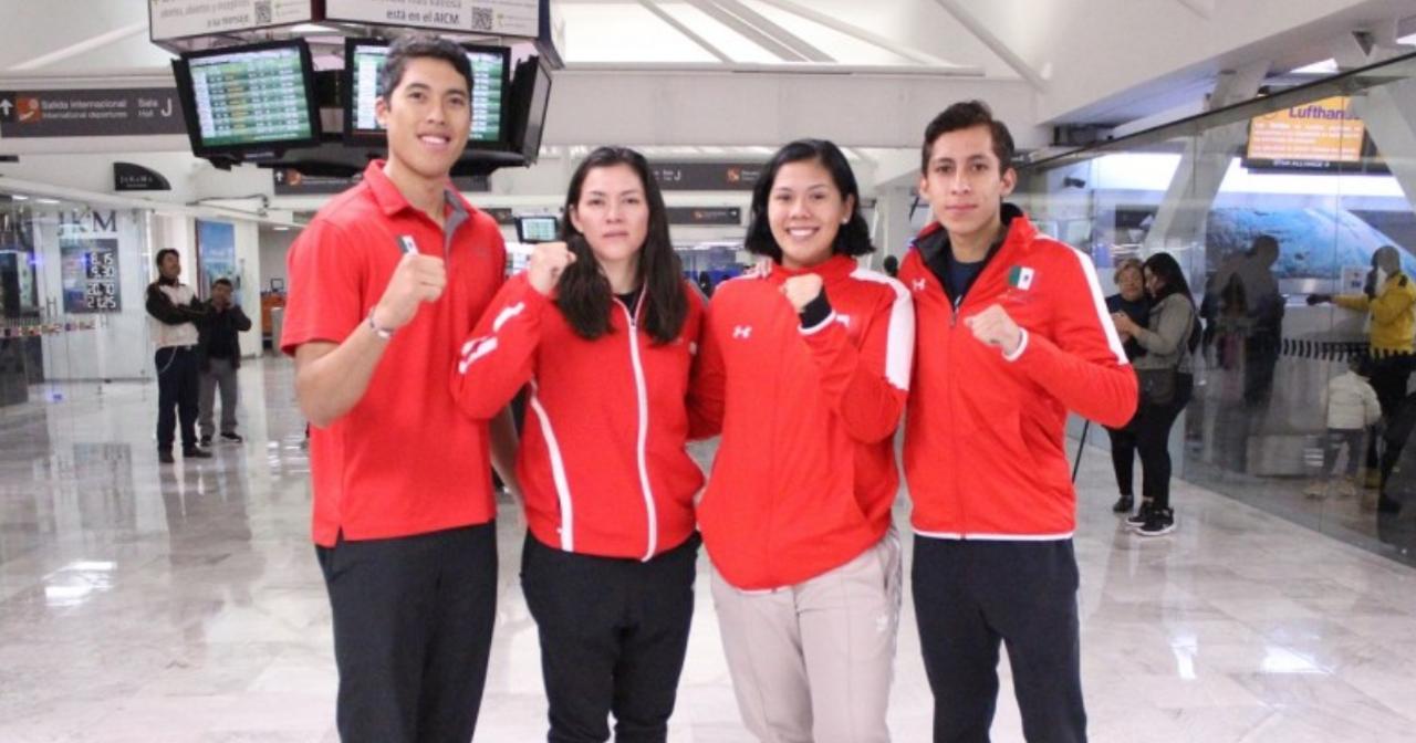 María Espinoza, Briseida Acosta, Brandon Plaza y Carlos Sansores, competirán el 6 y 7 de diciembre.