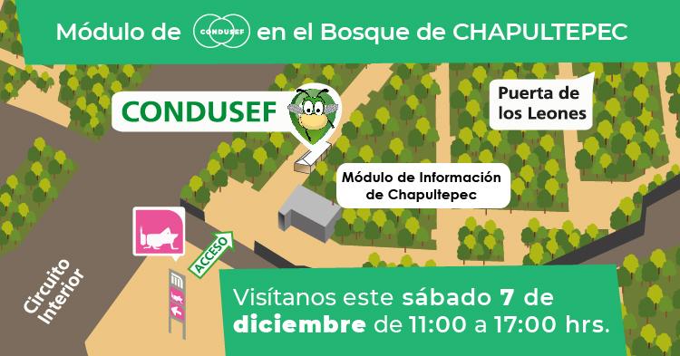 Módulo de CONDUSEF en el Bosque de Chapultepec