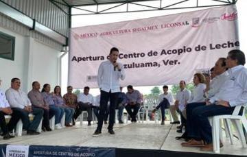 Abre Liconsa nuevo Centro de Acopio de leche en Ozuluama, Veracruz