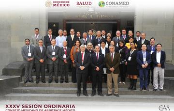 Se firma el convenio de coordinación de las comisiones estatales Arbitraje Médico y la Comisión Nacional de Arbitraje Médico en la XXXV Sesión Ordinaria del Consejo Mexicano de Arbitraje Médico (CMAM)