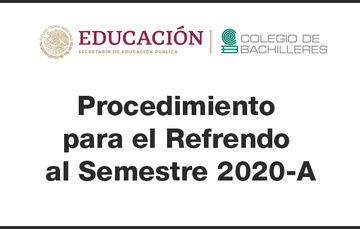 Procedimiento para el refrendo al semestre 2020-A
