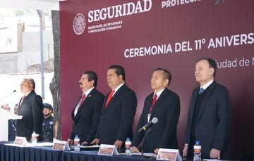 El titular de la SSPC informó que en el transcurso de tres años se aspira a que el SPF se haga cargo de todos los servicios hasta cubrir las 40 mil plazas de seguridad