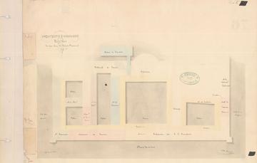 Para conmemorar el encuentro entre Villa y Zapata, la Mapoteca Manuel Orozco y Berra presenta un plano del Palacio Nacional, lugar que fue sede de este histórico suceso.