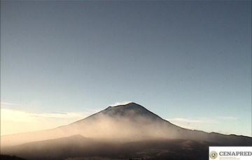 Por medio de los sistemas de monitoreo del volcán Popocatépetl se identificaron 176 exhalaciones y 107 minutos de tremor.