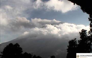 Por medio de los sistemas de monitoreo del volcán Popocatépetl se identificaron 154 exhalaciones compuestas de vapor de agua, gases volcánicos y bajo contenido de ceniza; adicionalmente, se registraron 60 minutos de tremor.