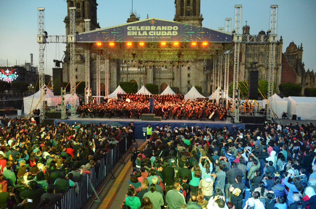 Boletín No. 6 Participa la Orquesta y Coro José Vasconcelos de la SEP en el cierre del festival navideño de la Ciudad de México