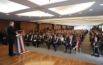 El secretario de Relaciones Exteriores inaugura la XXXI Reunión de Embajadores y Cónsules en la sede de la Cancillería