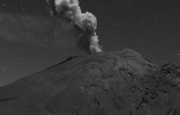 Por medio de los sistemas de monitoreo del volcán Popocatépetl se identificaron 155 exhalaciones, 198 minutos de tremor y tres sismos volcanotectónicos.