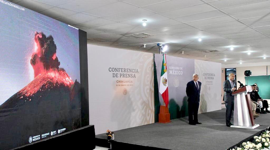 Aspectos de la conferencia matutina de hoy desde Ciudad Juárez, Chihuahua.