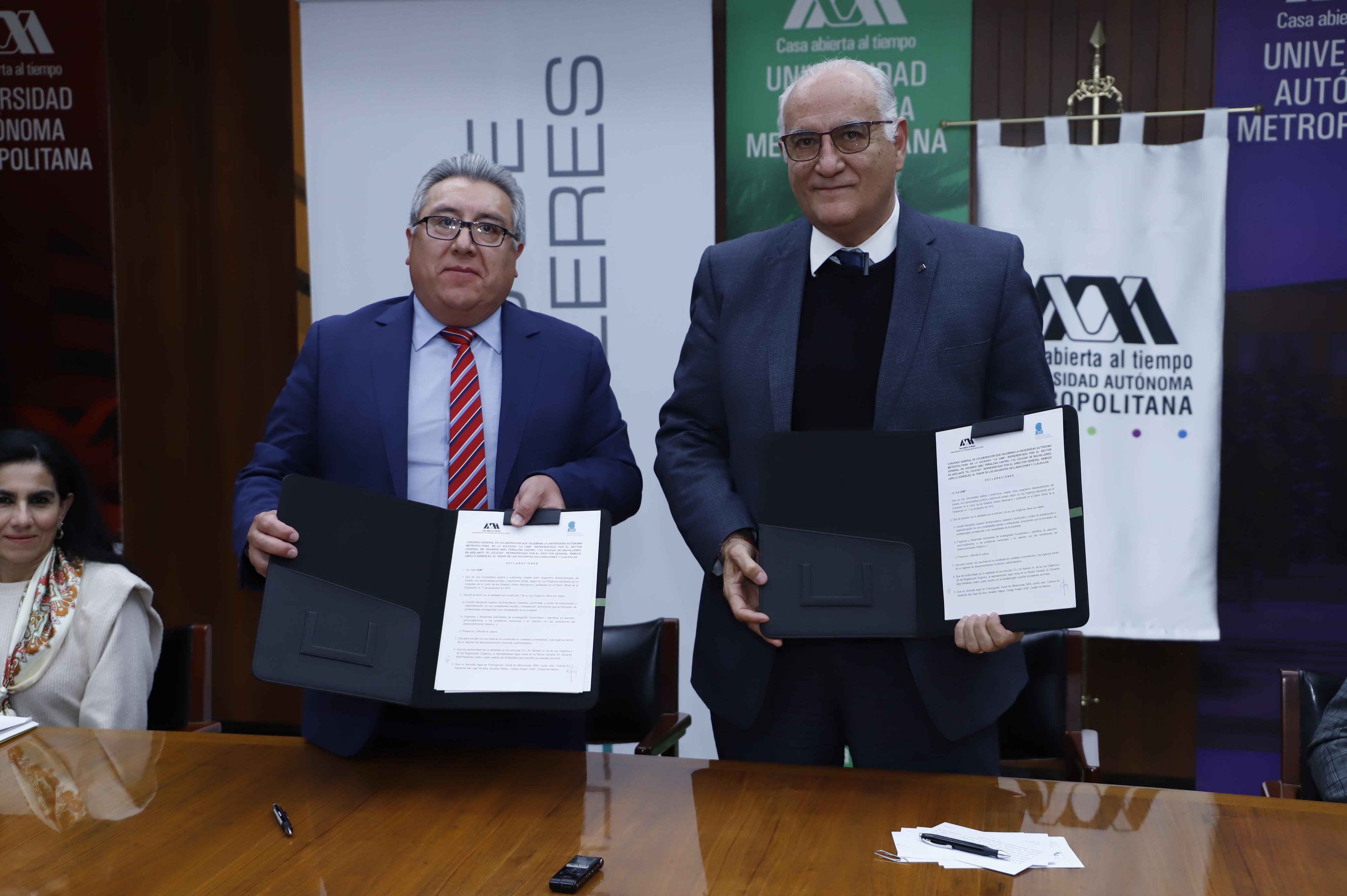 Establecen Colegio de Bachilleres y UAM convenio de colaboración para el desarrollo formativo de los estudiantes