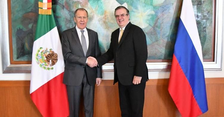 Se reúne el canciller Marcelo Ebrard con el ministro de Asuntos Exteriores de la Federación de Rusia, Serguéi Lavrov