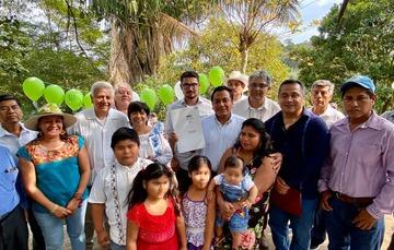 Entrega de viviendas en colaboración con Sembrando Vida en Veracruz.