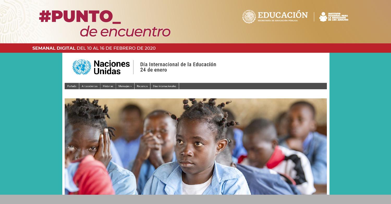 Celebran Día Internacional de la Educación