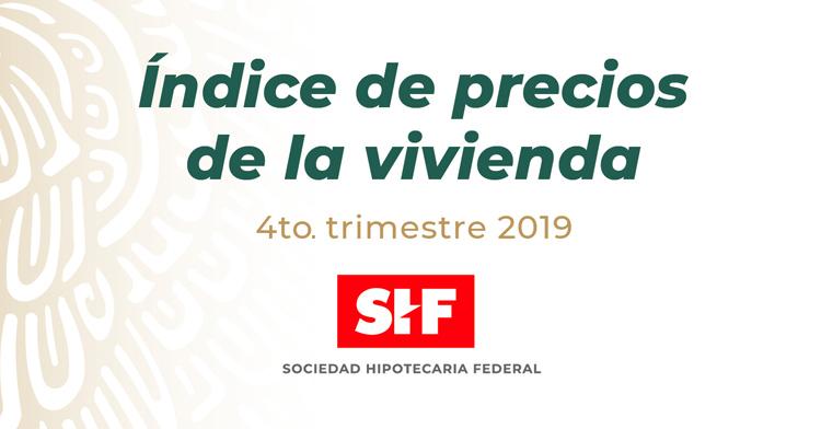Índice SHF de Precios de la Vivienda 4to. Trimestre
