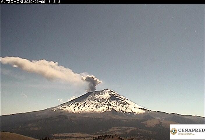 Por medio de los sistemas de monitoreo del volcán Popocatépetl se identificaron 101 exhalaciones y 325 minutos de tremor, algunos de estos eventos estuvieron acompañados por la emisión de gases y ligeras cantidades de cenizas.