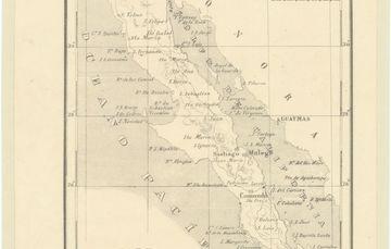 """Para conmemorar un año más de la fundación de Baja California, la Mapoteca """"Manuel Orozco y Berra"""" presenta la """"Carta de Baja California"""", que data del siglo XIX."""