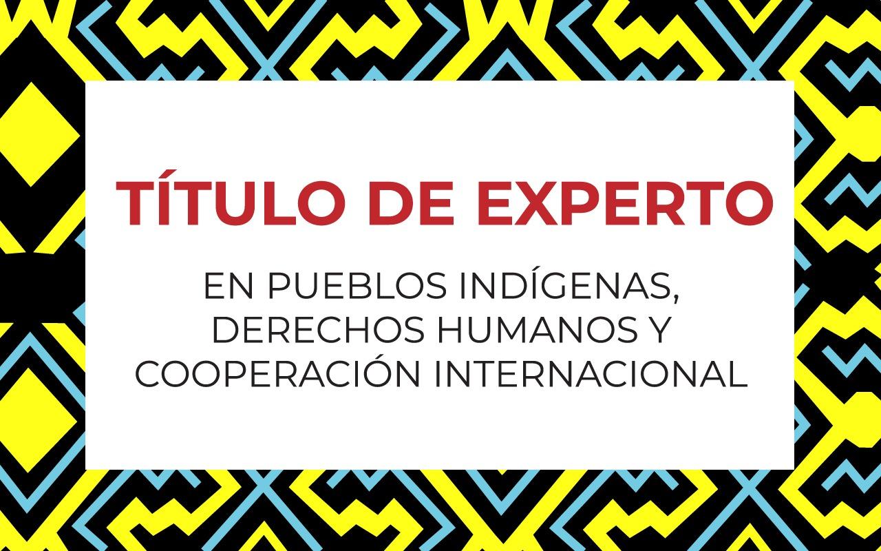 Convocatoria 14ª edición del Título de Experto en  Pueblos Indígenas, Derechos Humanos y Cooperación Internacional.