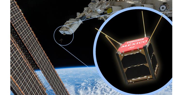 El primer Nanosatélite mexicano en la Estación Espacial Internacional (EEI), fue liberado a su órbita de manera exitosa este miércoles a las 6:55 a.m.