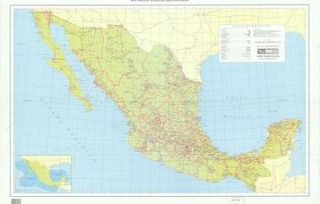 """Para conmemorar un año más de la creación del INEGI, la Mapoteca presenta la carta geográfica """"Vías de comunicación de la República Mexicana"""", de 1995."""