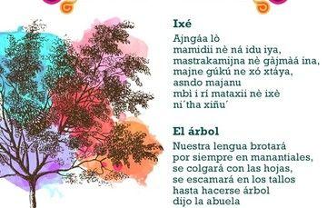 Poema al árbol en lengua maya.