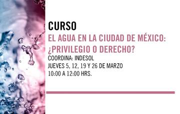Curso: El agua en la Ciudad de México: ¿privilegio o derecho?