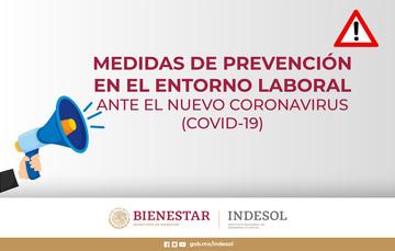 MEDIDAS DE PREVENCIÓN EN EL ENTORNO LABORAL ANTE EL NUEVO CORONAVIRUS (COVID-19)