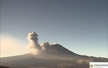 Por medio de los sistemas de monitoreo del volcán Popocatépetl se identificaron 287 exhalaciones, 304 minutos de tremor y 6 explosiones menores: la primera registrada ayer a las 20:32 h, las demás hoy a las 02:30, 02:47, 03:07, 03:26 y 06:22 h.