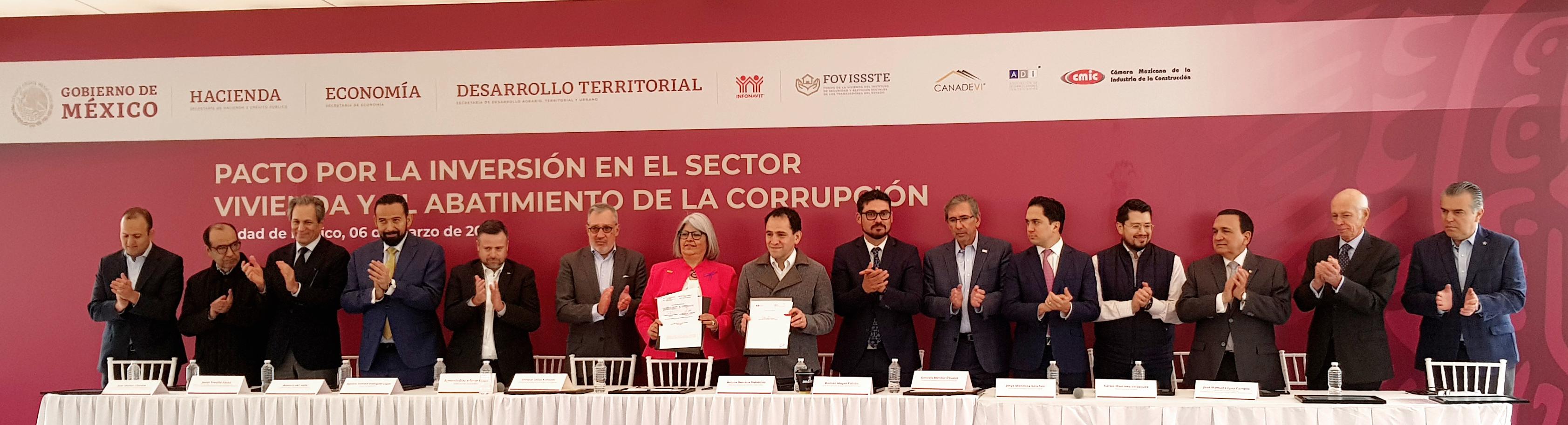 Firma de convenio SHF con ABM, en beneficio de familias con Economía Mixta