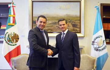 Reunión con el Presidente electo de Guatemala