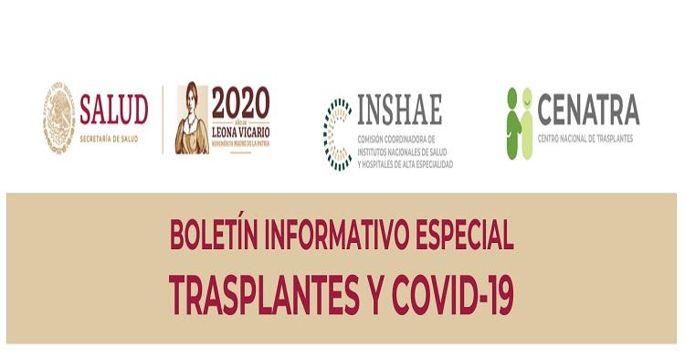 Se emite boletín sobre pacientes trasplantados que contrajeron Coronavirus.