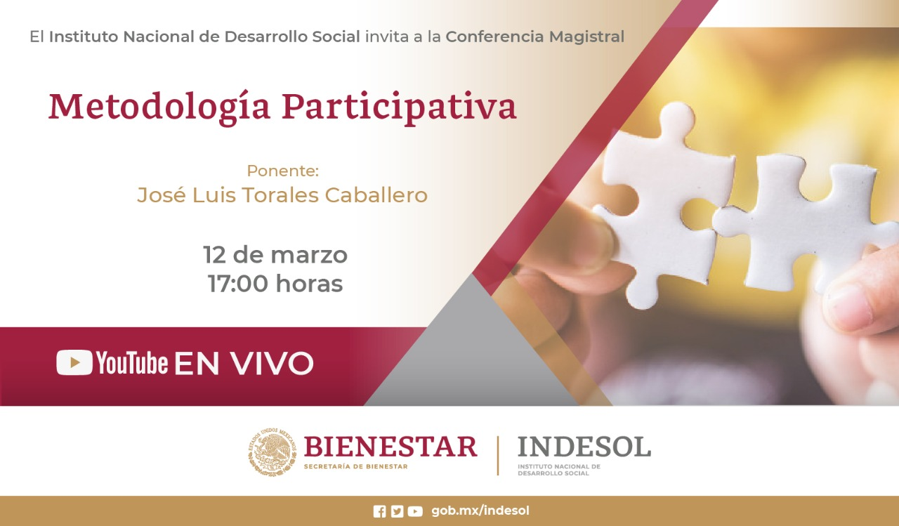 Conferencia magistral: Metodología Participativa