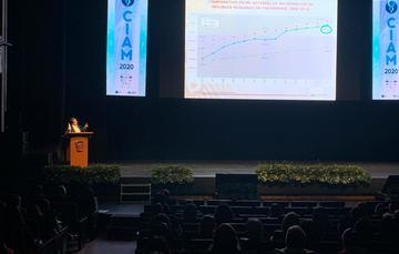 """Dr. Fernando Meneses González, Director de Investigación en CONAMED, en la ponencia: """"¿Por qué demandan a los profesionales en Enfermería y qué hacer para evitarlo?""""."""