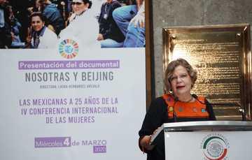 Con sede en el antiguo Senado de la República, se llevo a cabo la presentación del documental que conmemora la participación de las mexicanas en la IV  Conferencia Internacional de las Mujeres.