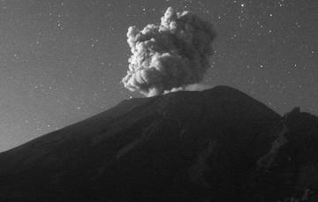 En las últimas 24 horas, mediante los sistemas de monitoreo del volcán Popocatépetl se identificaron 178 exhalaciones, dos explosiones menores y 219 minutos de tremor.