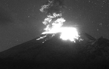 En las últimas 24 horas, mediante el sistema de monitoreo del volcán Popocatépetl se identificaron 182 exhalaciones acompañadas de vapor de agua, gases volcánicos y ligeras cantidades de ceniza.