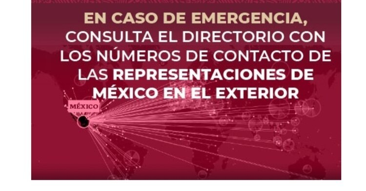 Emergency telephone numbers for Mexico's representations abroad