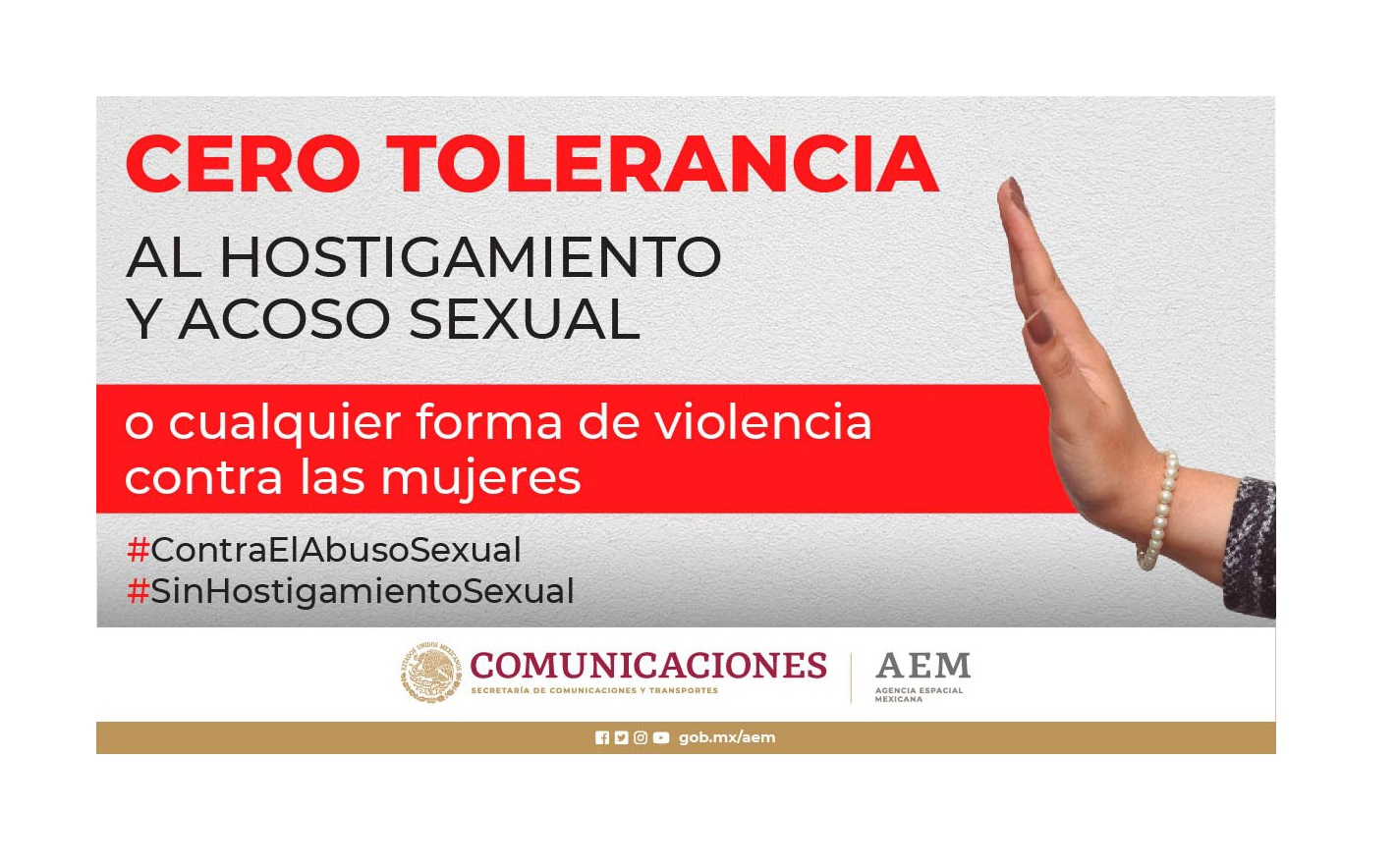 """Cero Tolerancia al hostigamiento y acoso sexual"""