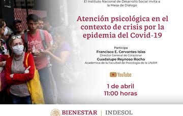 Mesa de Diálogo: Atención psicológica en el contexto de crisis por el COVID-19