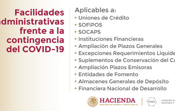 Facilidades administrativas frente a la contingencia del COVID-19