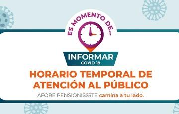 Horario temporal de atención al público