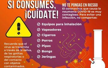 Si consumes, ¡Cuídate! No te pongas en riesgo.