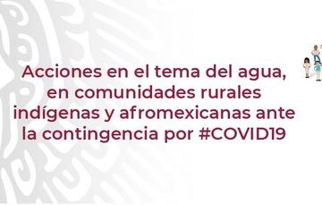 """Texto """"Acciones de Conagua"""" y logotipo de Conagua."""