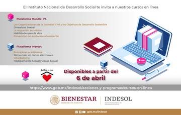 El Indesol te invita a nuestros curso en línea