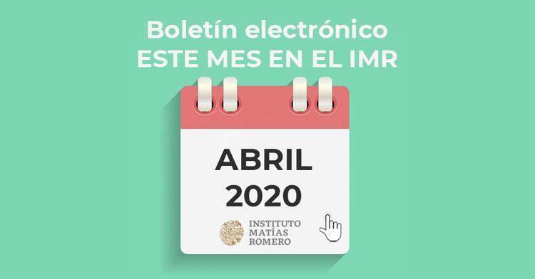 Este mes en el IMR - abril 2020