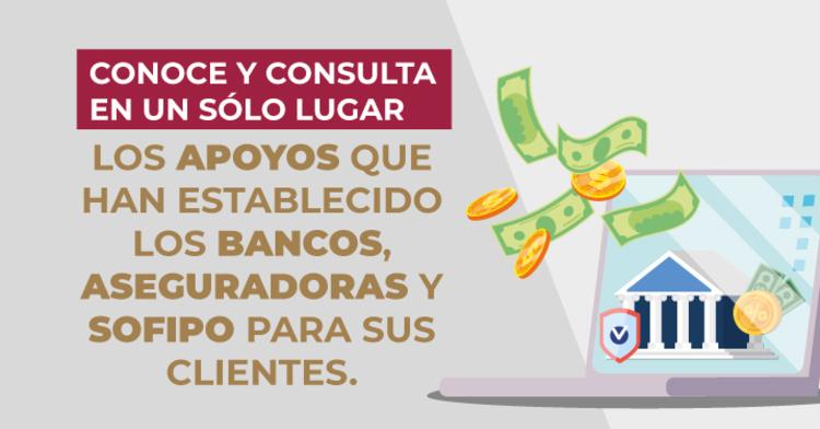 Programas de apoyo a clientes de la banca.
