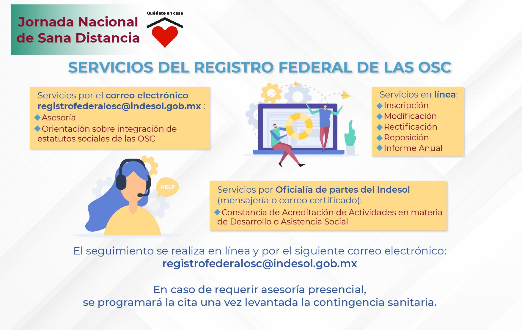 SERVICIOS DEL REGISTRO FEDERAL DE LAS OSC